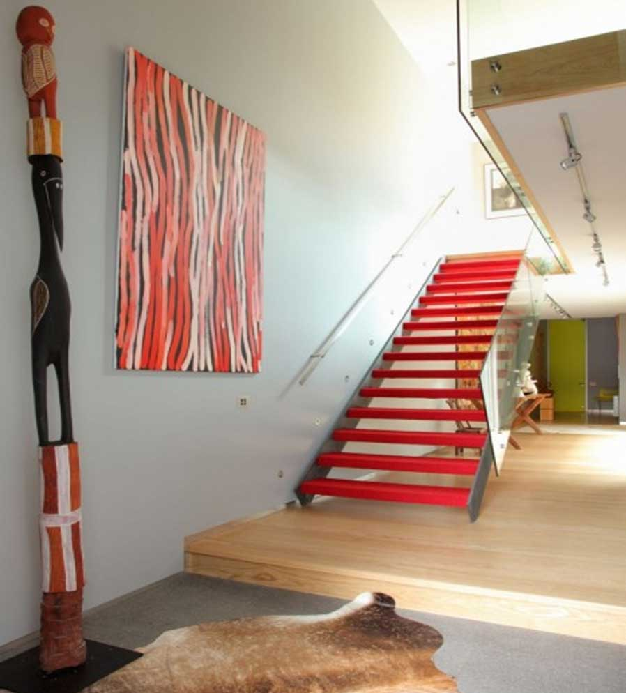 condo staircase interior design idea