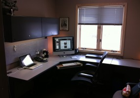 condo home office window