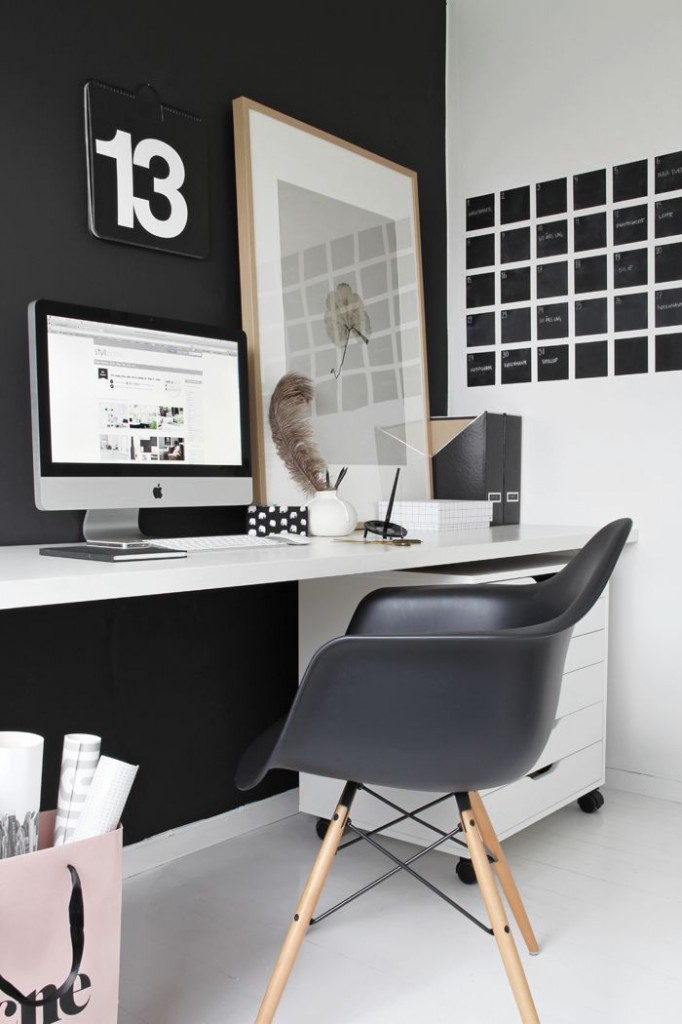 black condo office