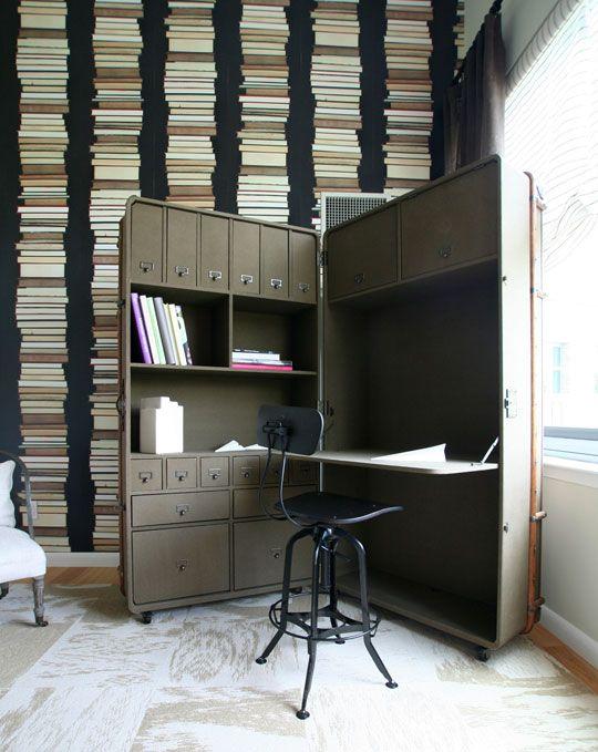 dark color condo office