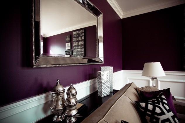 purple condo living room