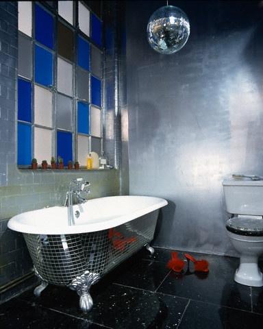 Disco Themed Condo Bathroom