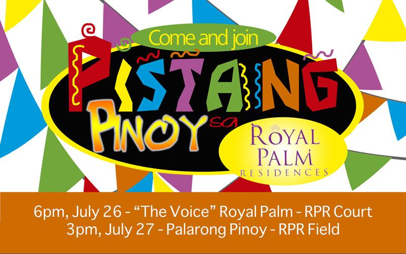 """""""The Voice,"""" Palarong Pinoy among festivity highlights at Pistang Pinoy sa Royal Palm"""