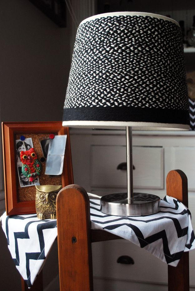 The Contrast Braided Lamp Shade
