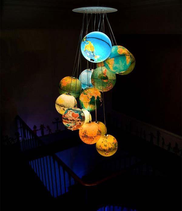 The Glowing Earth Chandelier