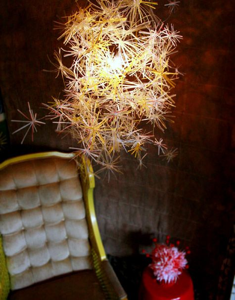The Straw Cluster Chandelier
