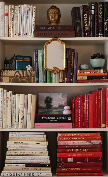 art of bookshelf arranging