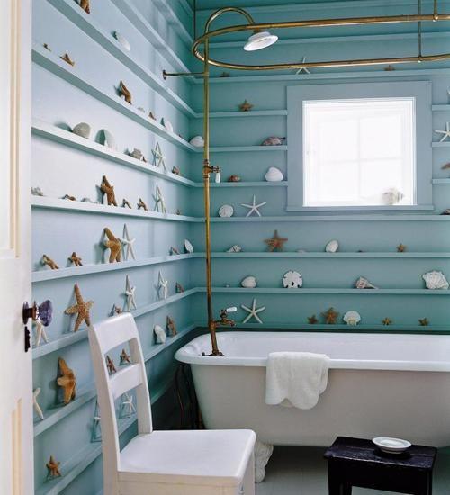 condo bathroom sea themed