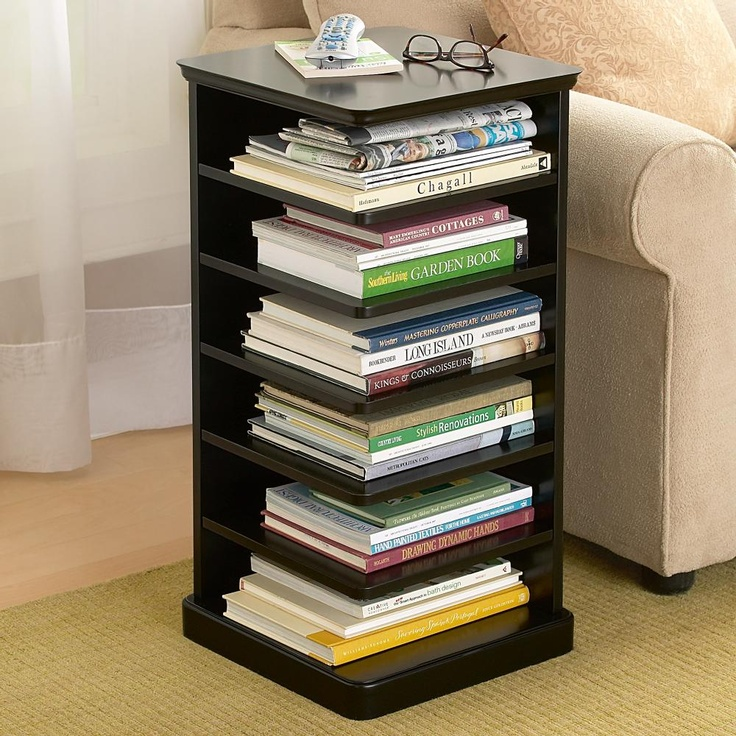 easy to reach bookshelf