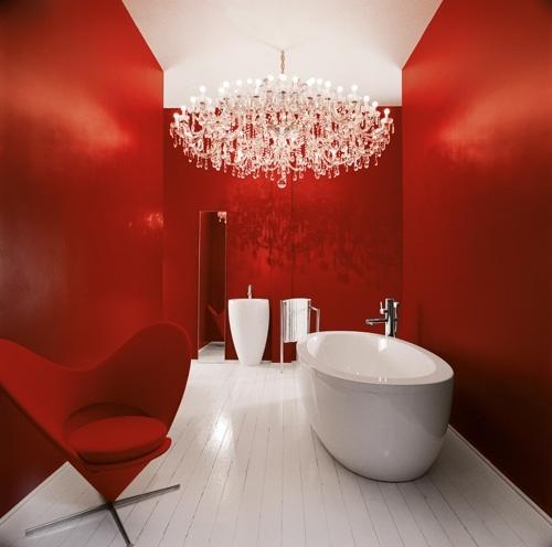 enchanting red bathroom