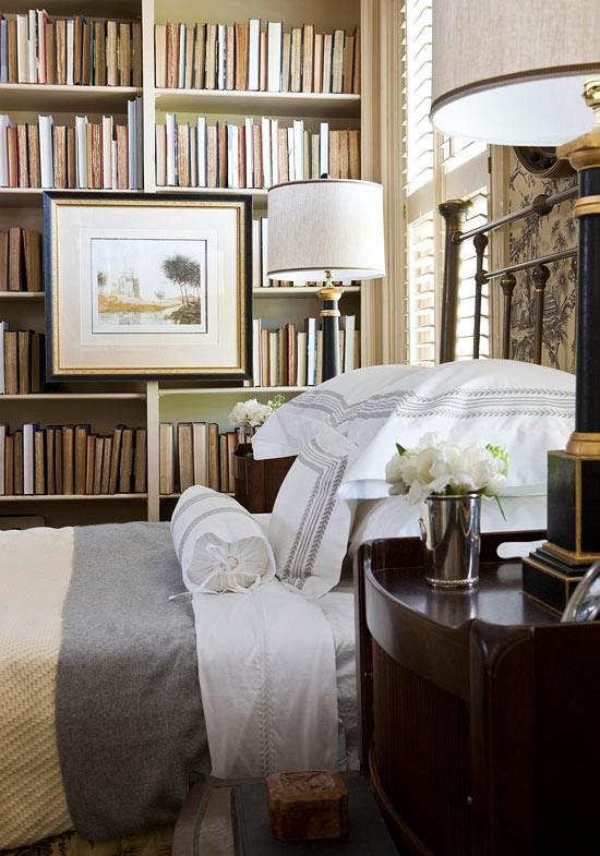 mini library in your condo bedroom