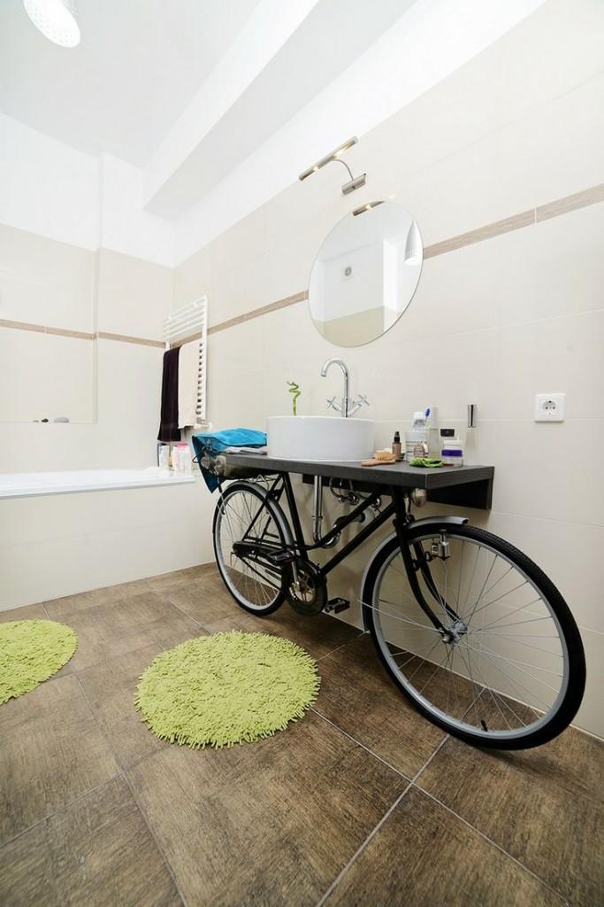 sporty bathroom