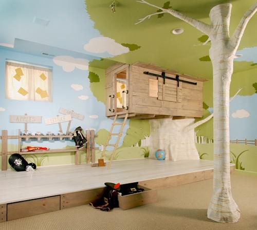 A Cozy Tree House Bedroom