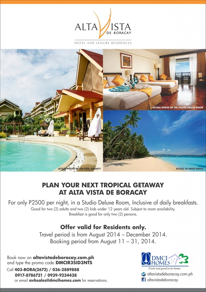 Find the perfect escape from city life at Alta Vista De Boracay!