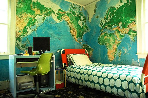 Learn Geography from a World Map Mural