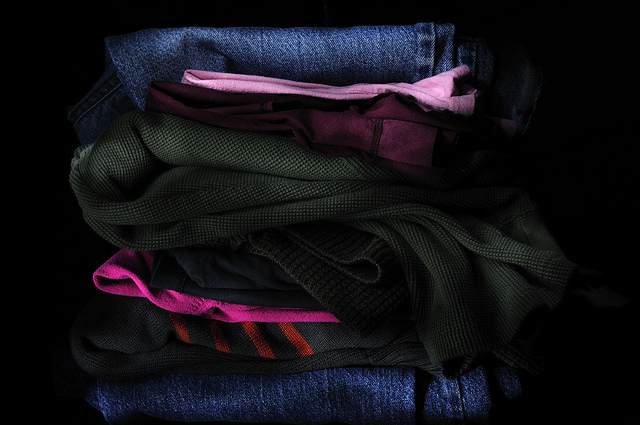 dark clothes in laundry