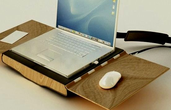 laptop table and bag in one