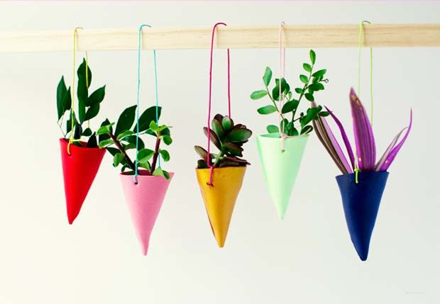 Add Color to Your Condo with Hanging Plant Holders