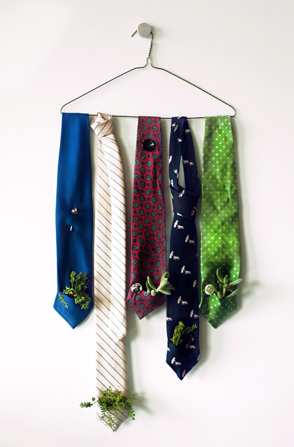 Dad's Neckties for a Greener Planter