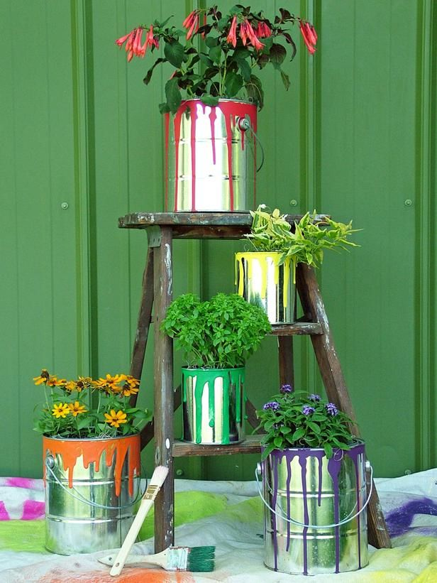 Exude Creativity with Paint Can Planters
