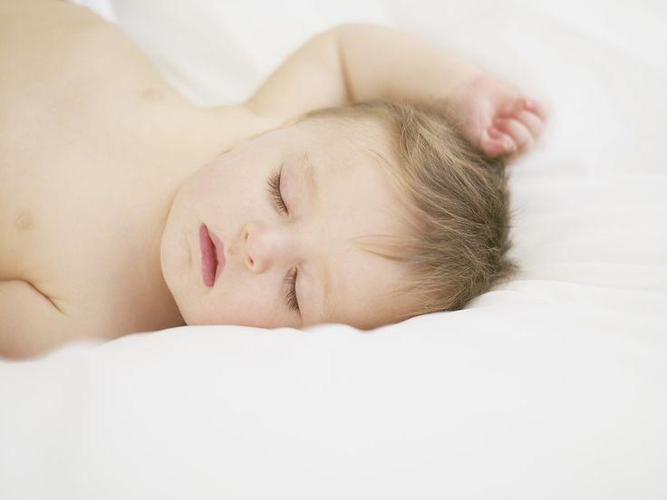sleeping new baby in condo