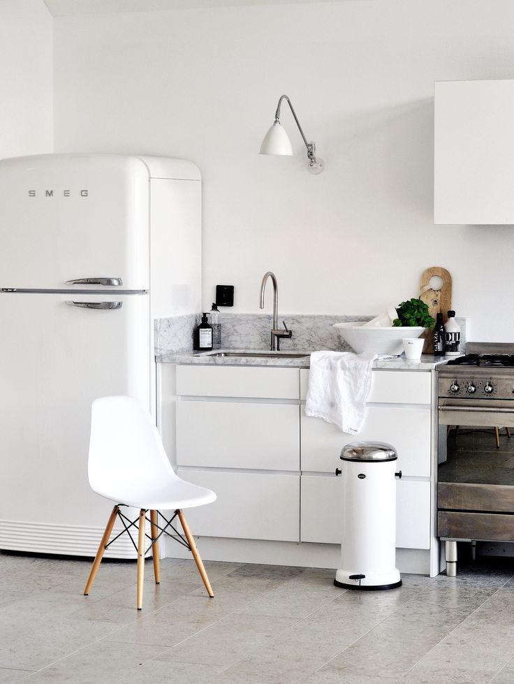 white-colored condo kitchen