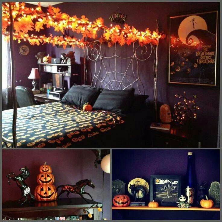 Creepy Nights With A Halloween Bedroom
