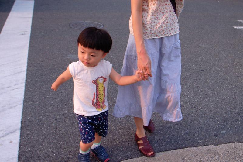 condo walk with kids
