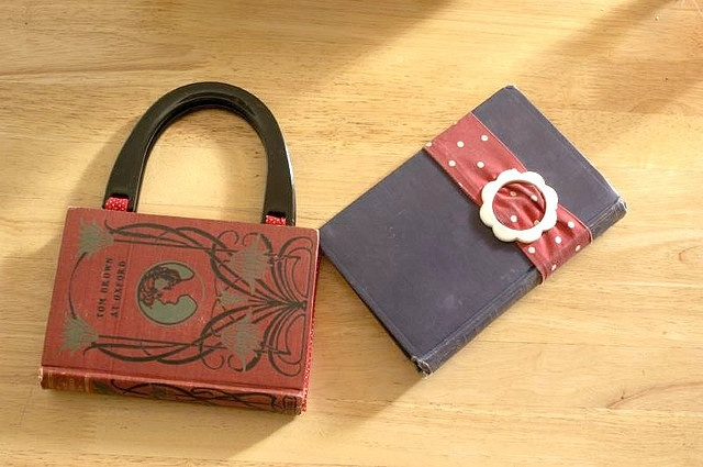 old book turn into bag