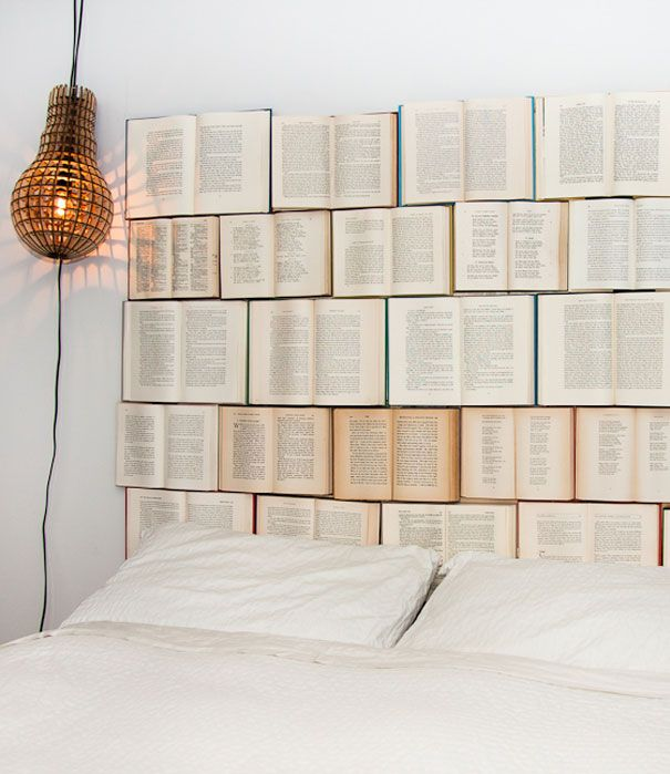 creative book condo headboard