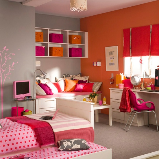 Bright Orange and Hot Pink