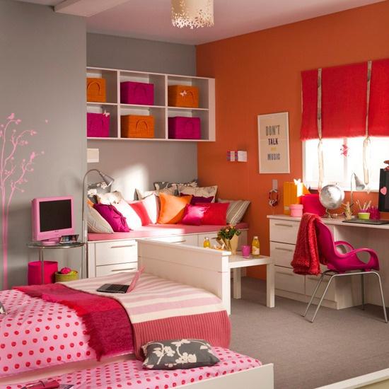 Bright Orange and Hot Pink