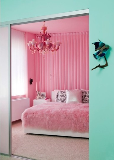 Pale Green and Bubblegum Pink