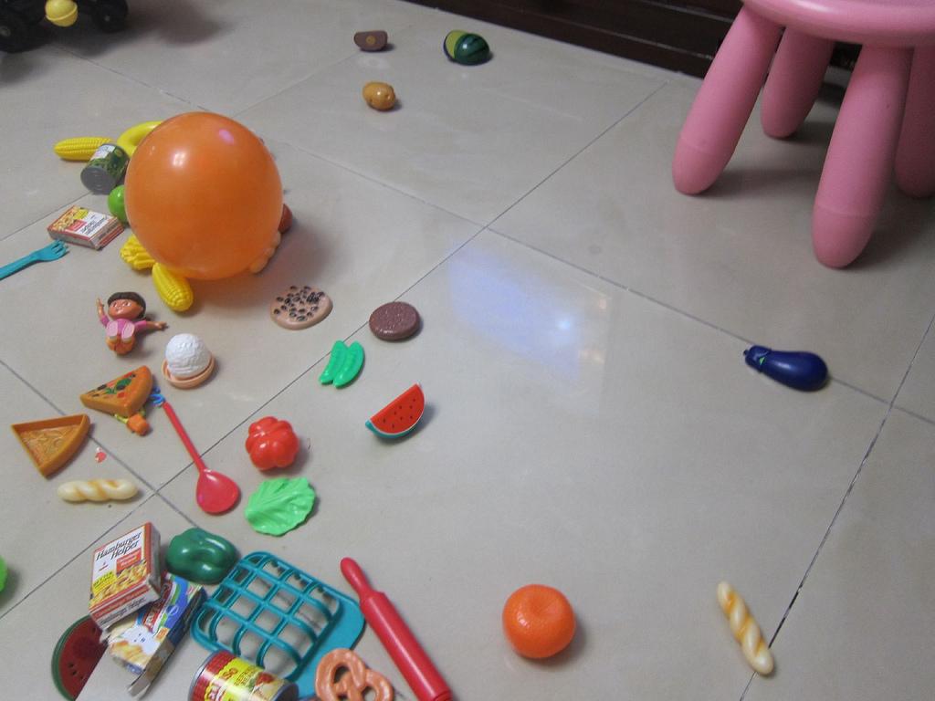 kids clutter condo