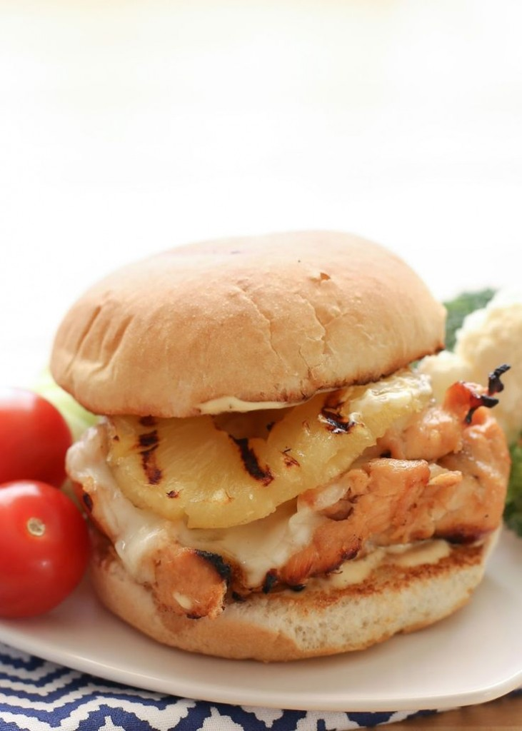 Aloha chicken burger