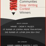 DMCI Homes Communities Essay Writing Winners