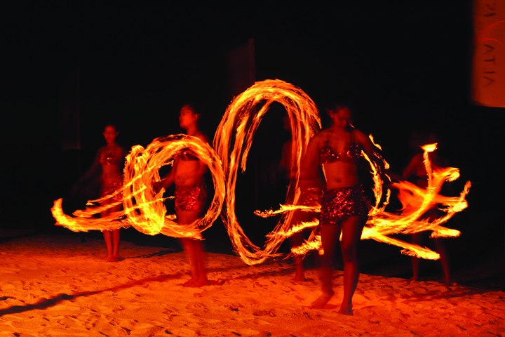 Fire Dancers at the beach side