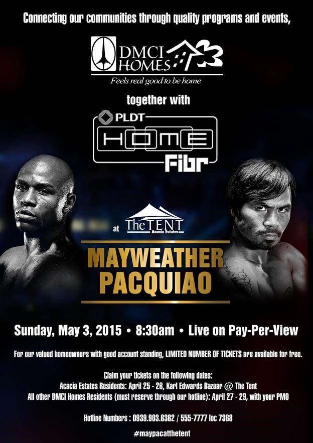 Catch the Mayweather-Pacquiao Pay per view at The Tent