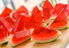 Watermelon jell-o shot