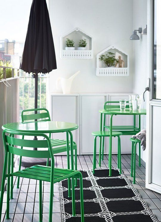 charming bistro set balcony