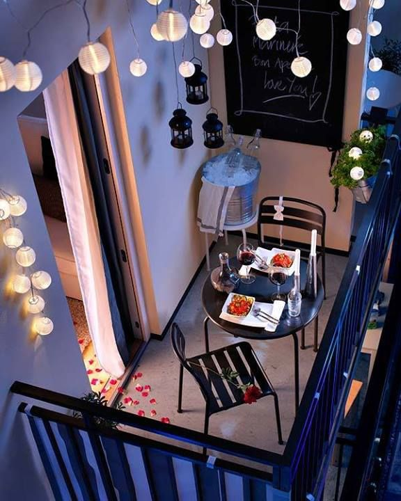 light in condo balcony