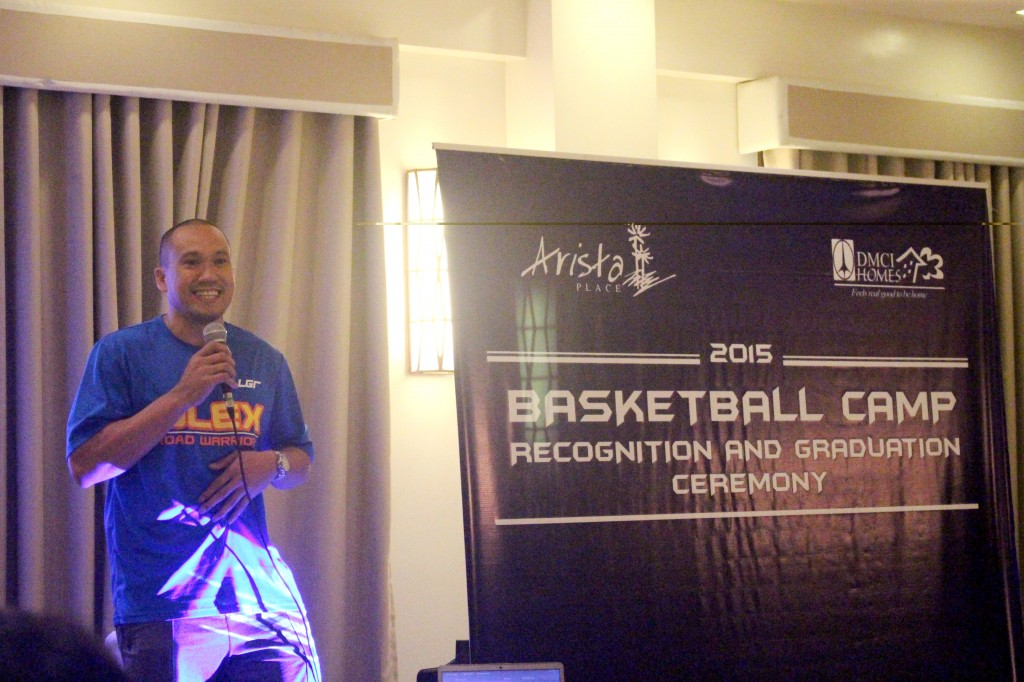 Wynne Arboleda of PBA's NLEX Road Warriors and also a soon-to-be resident of DMCI Homes' community, shared a motivational message to the kids.