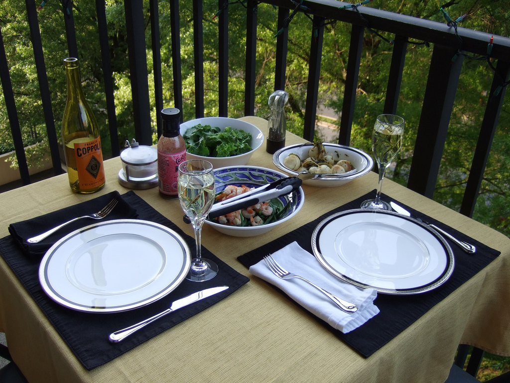 picnic at the balcony