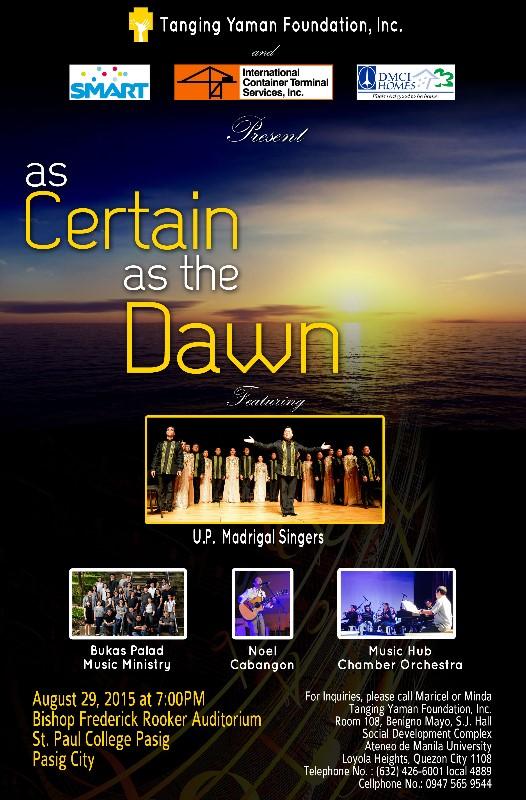 As certain as the dawn