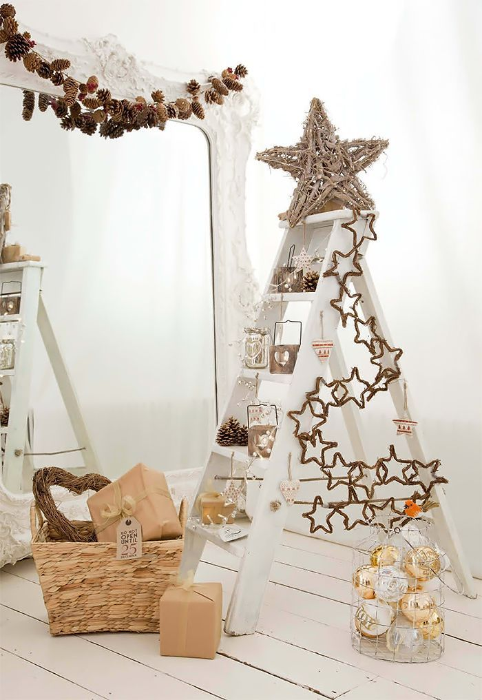 A Ladder Christmas Tree