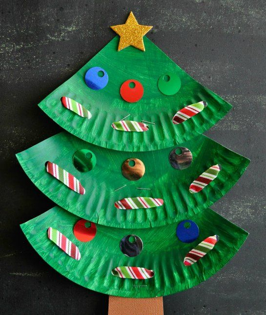 A Paper Plate Christmas Tree