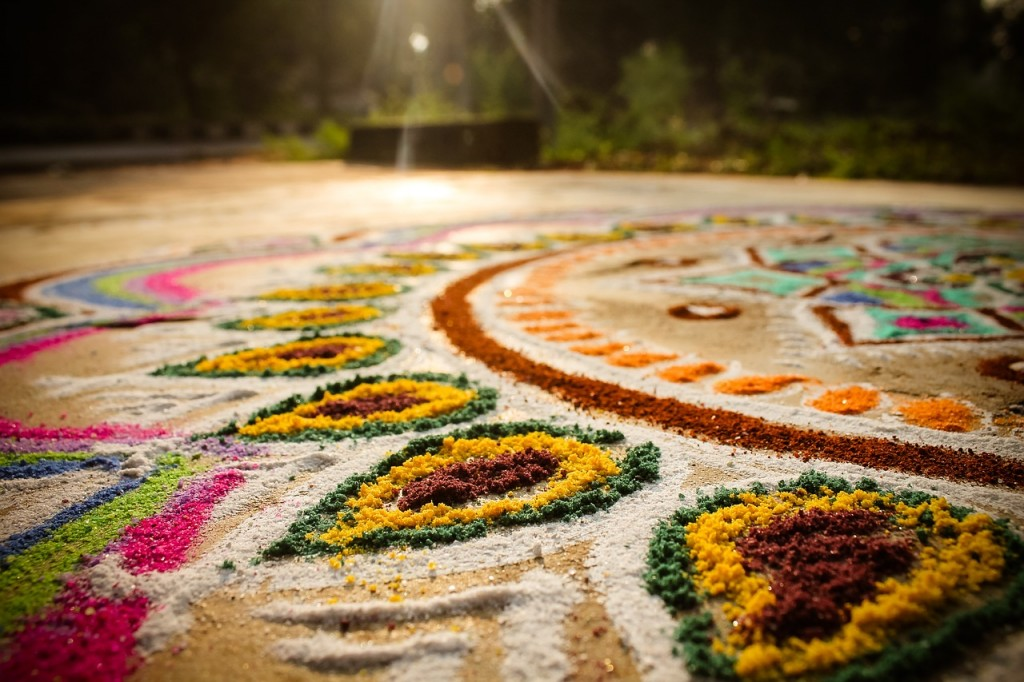 Colorful Indian floor