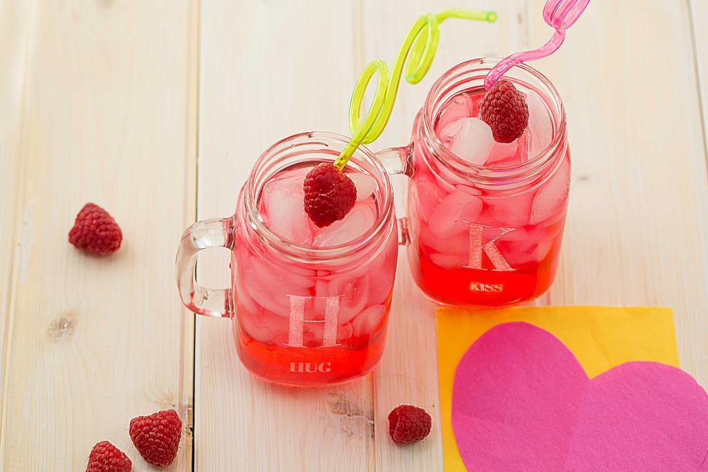 Cupid Lemonade in Personalized Mason Jar