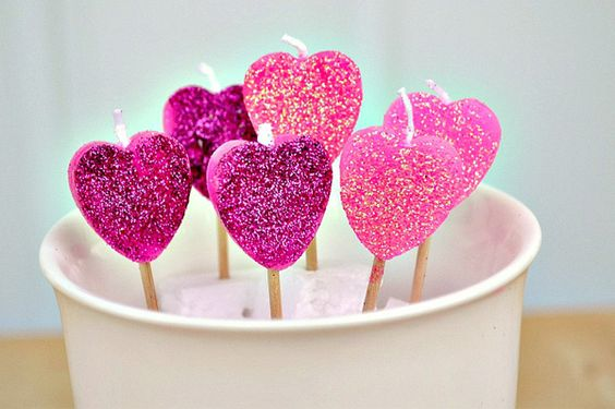 Heart on Fire Candles