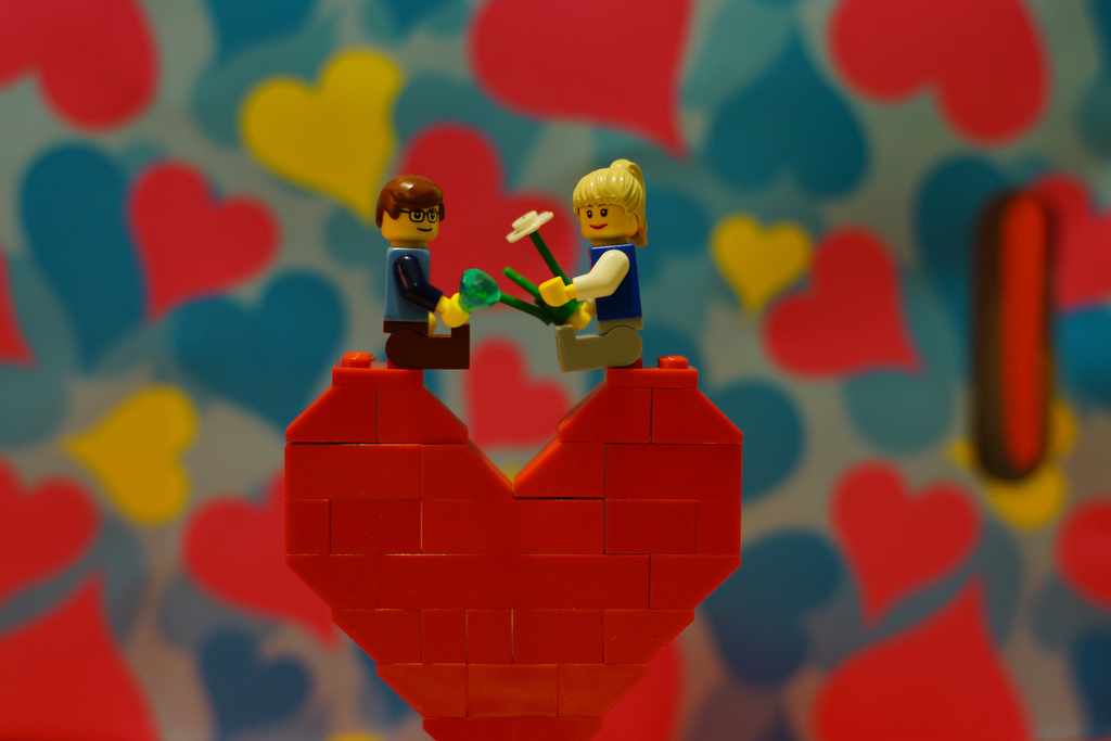 Love-themed Lego Art